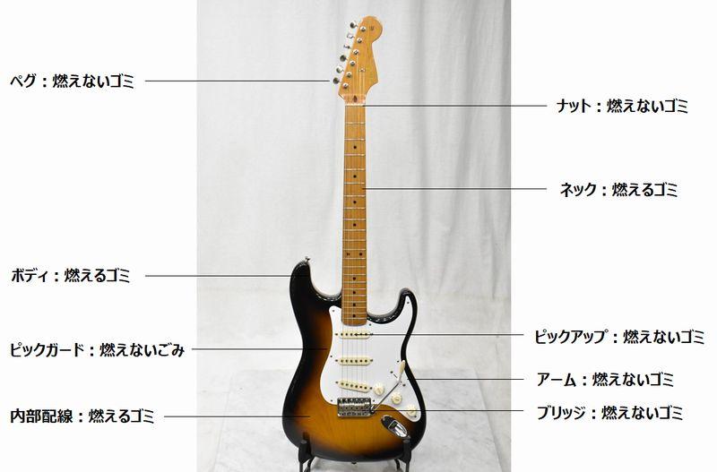 パーツ別ギターの処分方法